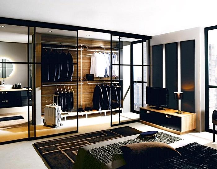 Гардеробная в гостиной дизайн