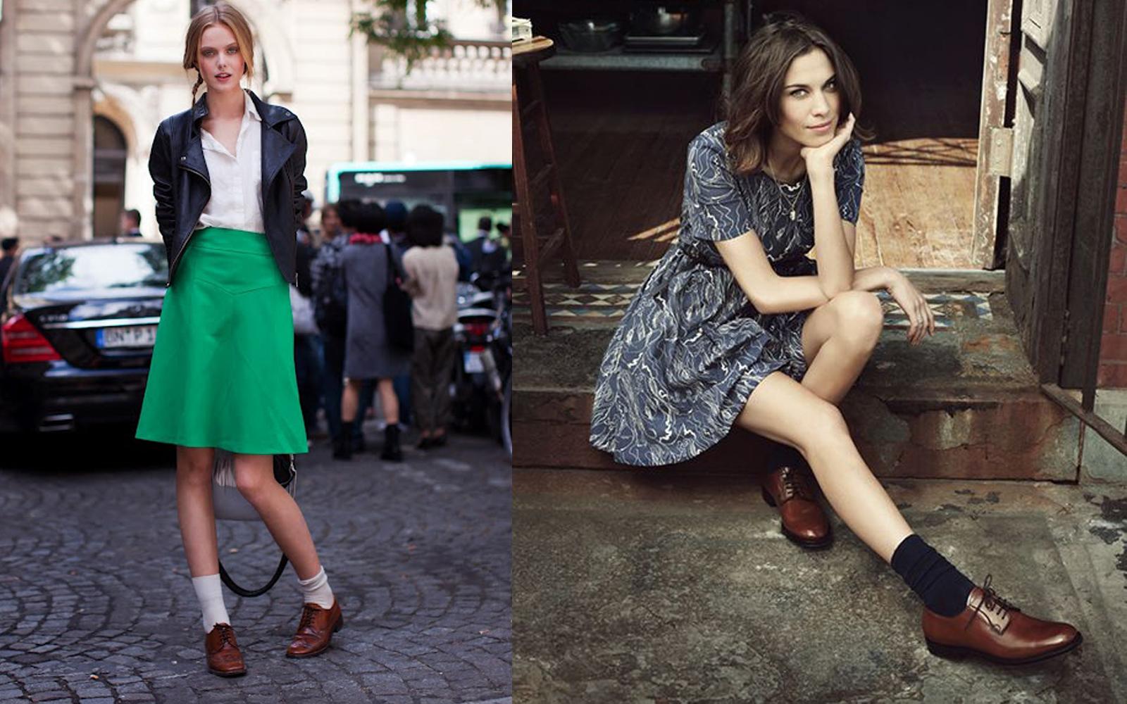 Что делает мужская обувь в женском гардеробе?