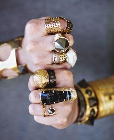 a abundância de jóias