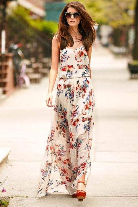 flower print dress1