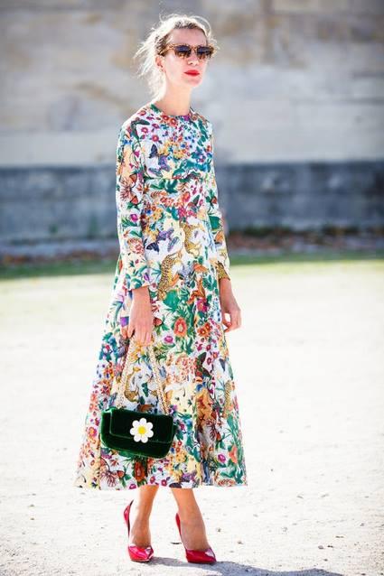 flower print dress6