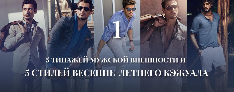 5 типажей мужской внешности и 5 стилей весенне-летнего гардероба