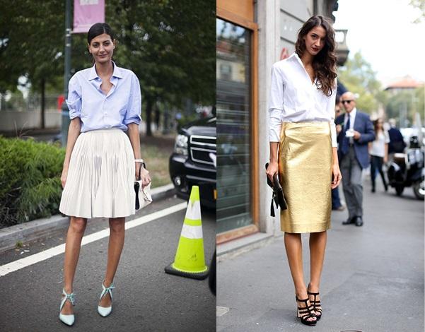 Офисный стиль: нарядная юбка
