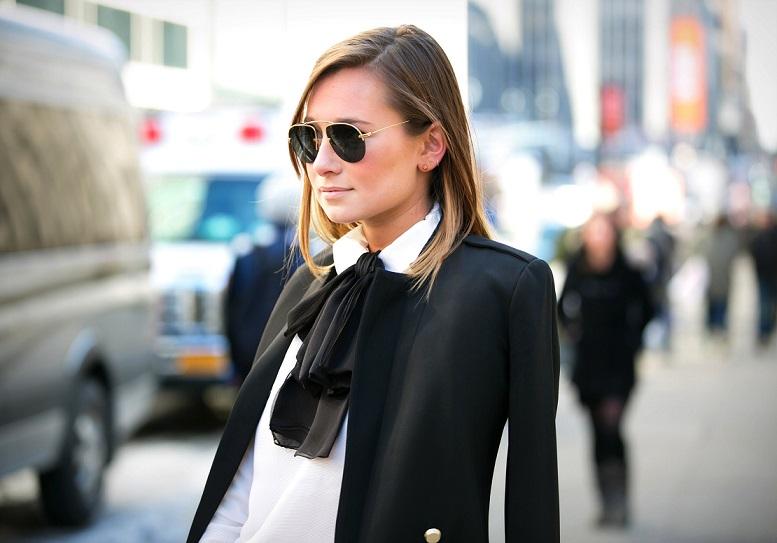 модная блуза: с бантом стрит-стайл