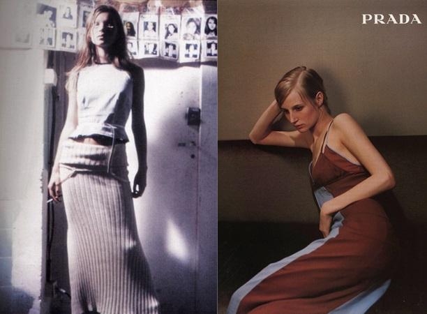 стиль 90-х Кейт Мосс Prada