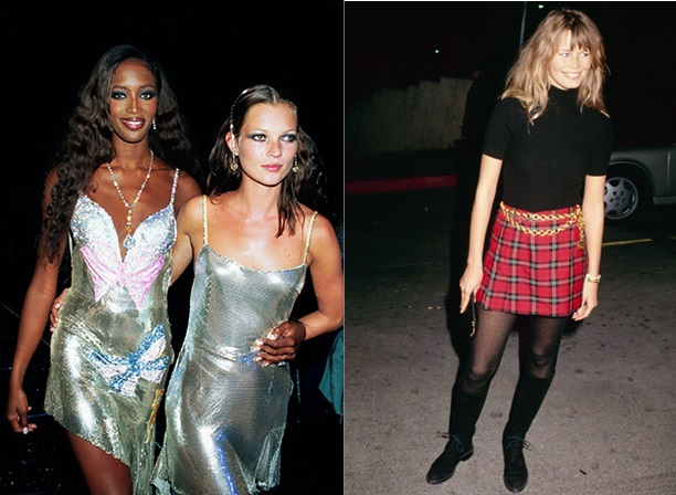стиль 90-х Наоми Кейт Клаудиа
