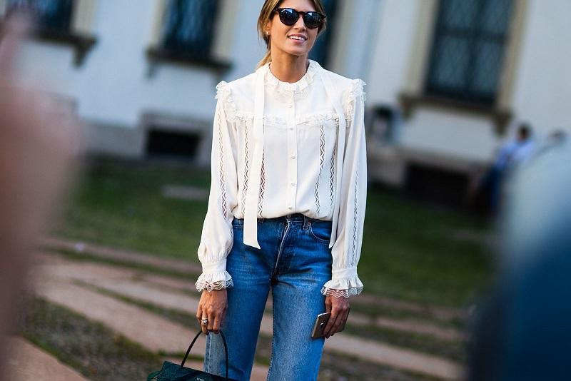 модная блуза: ретро стрит-стайл