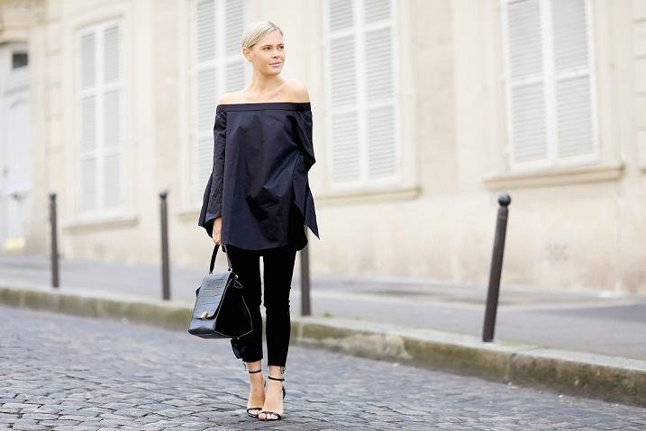 модная блуза: открытые плечи стрит