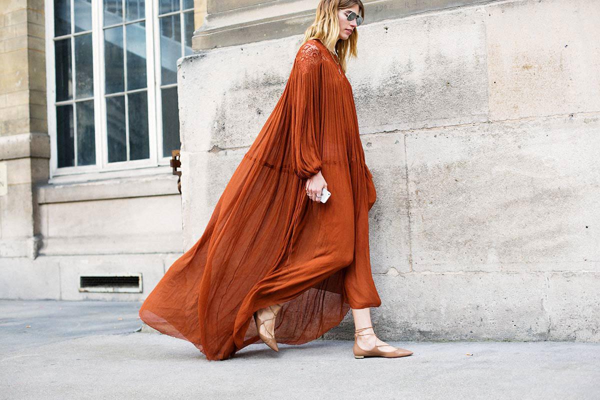 что носить летом: бохо-платье стрит-стайл