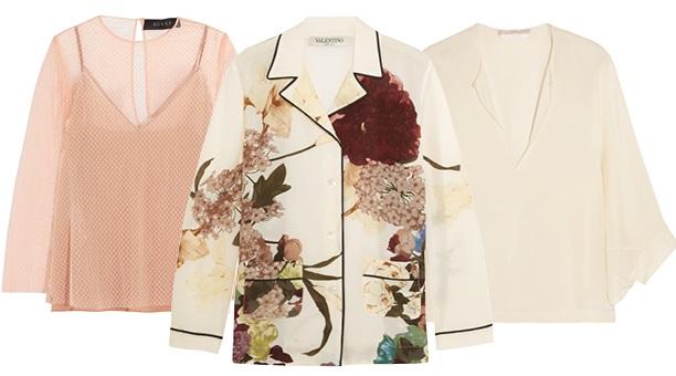 модная блуза: ланжери
