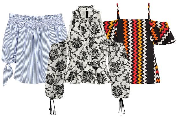 модная блуза: открытые плечи