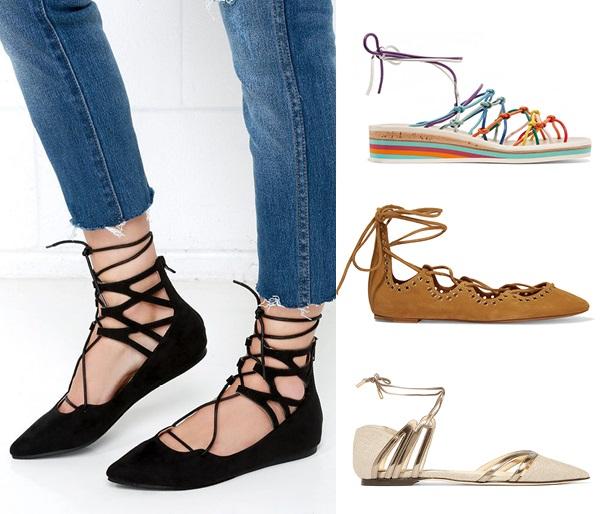 что носить летом: туфли на завязках