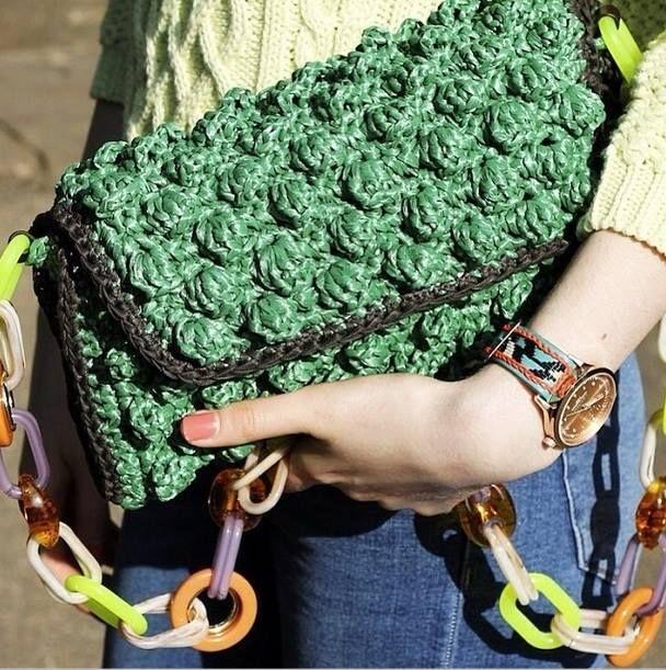 аксессуары из рафии: сумки