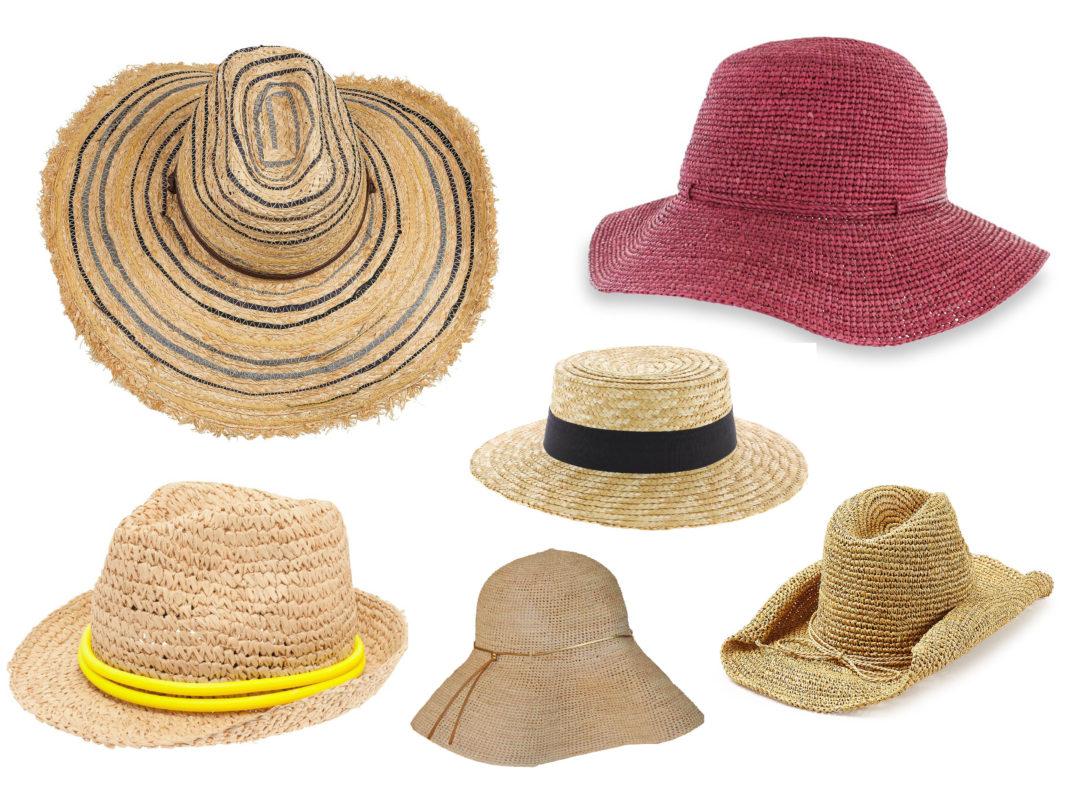 аксессуары из рафии: шляпы