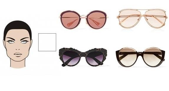 темные очки: квадрат