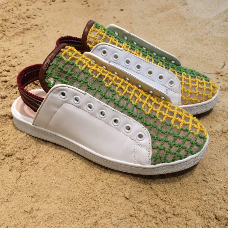 аксессуары из рафии: обувь