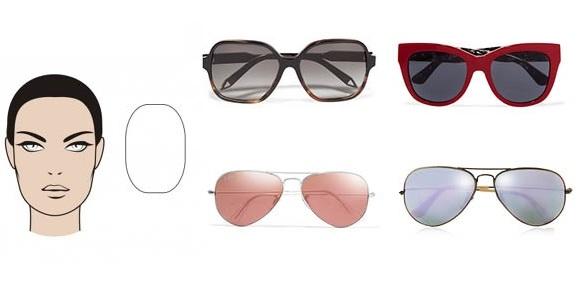 темные очки: вытянутое