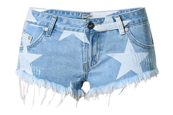 Plus-Size-Jeans-Short-Women-font-b-Hot-b-font-Denim-Shorts-Star-Pattern-Tassel-Sexy