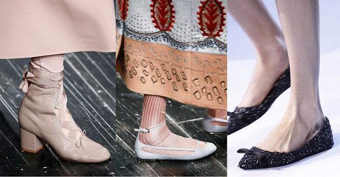 Модная обувь осени-зимы 2016-2017- балетки