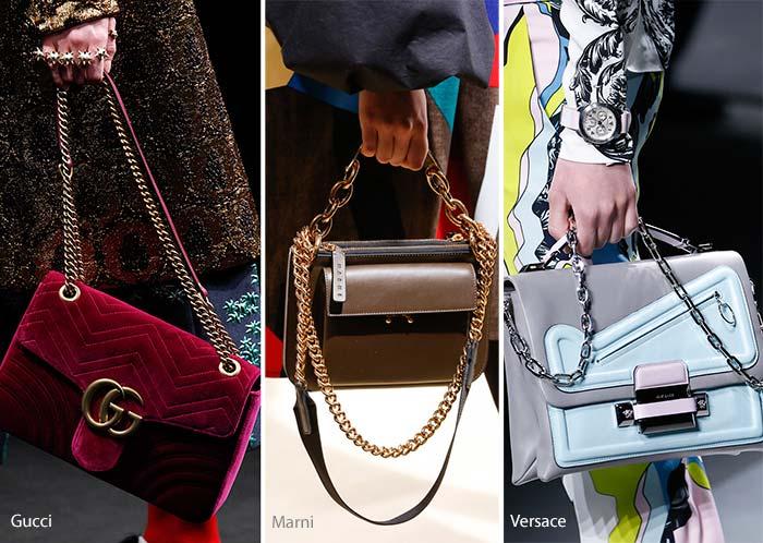 Модные сумки осени-зимы - на цепочке