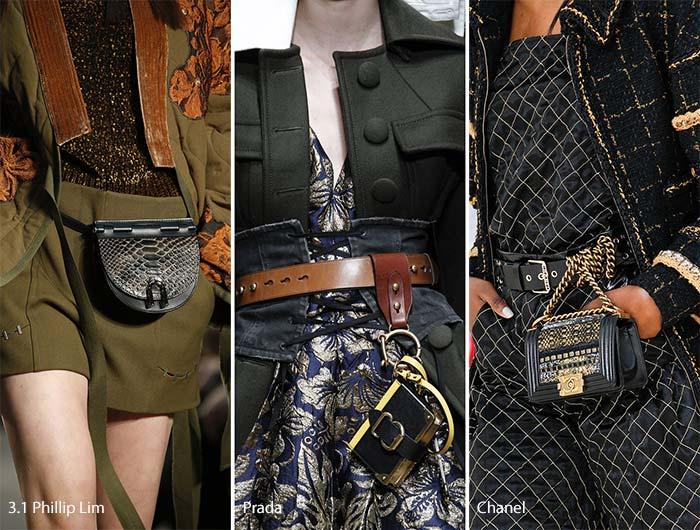 Модные сумки осени-зимы - на пояс