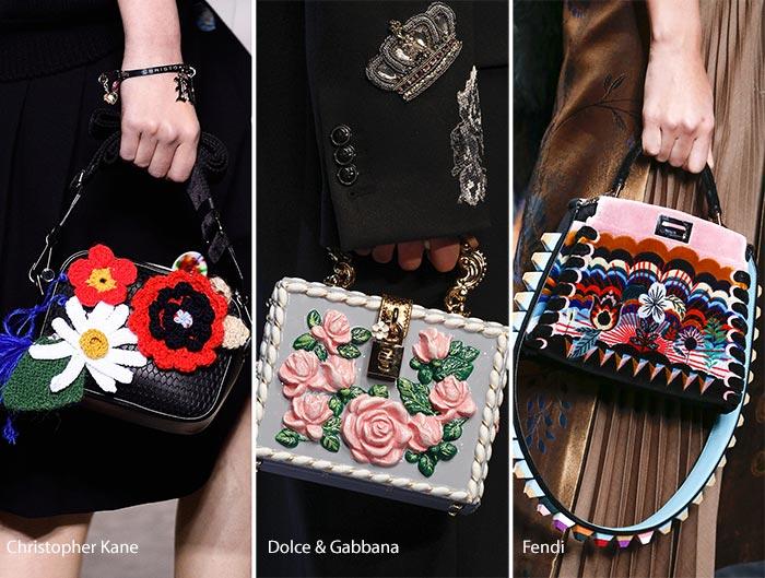 Модные сумки осени-зимы - с объемным декором