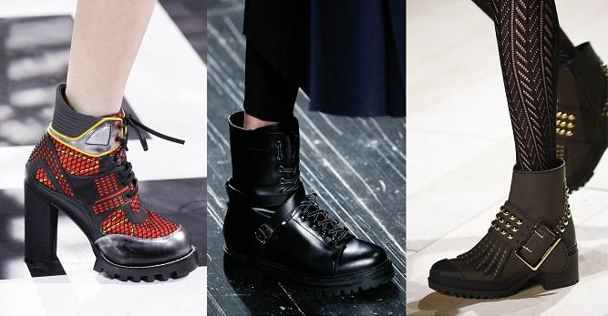 Модная обувь осени-зимы 2016-2017- грубая