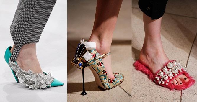 Модная обувь осени-зимы 2016-2017- с богатым декором, музейная