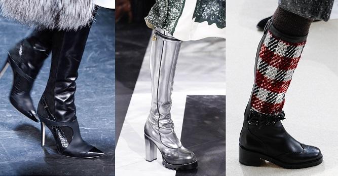 Модная обувь осени-зимы 2016-2017- высокие сапоки