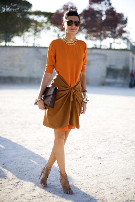Как носить цвет