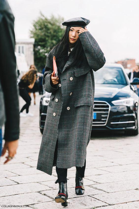яркий зимний образ, ретро, пальто