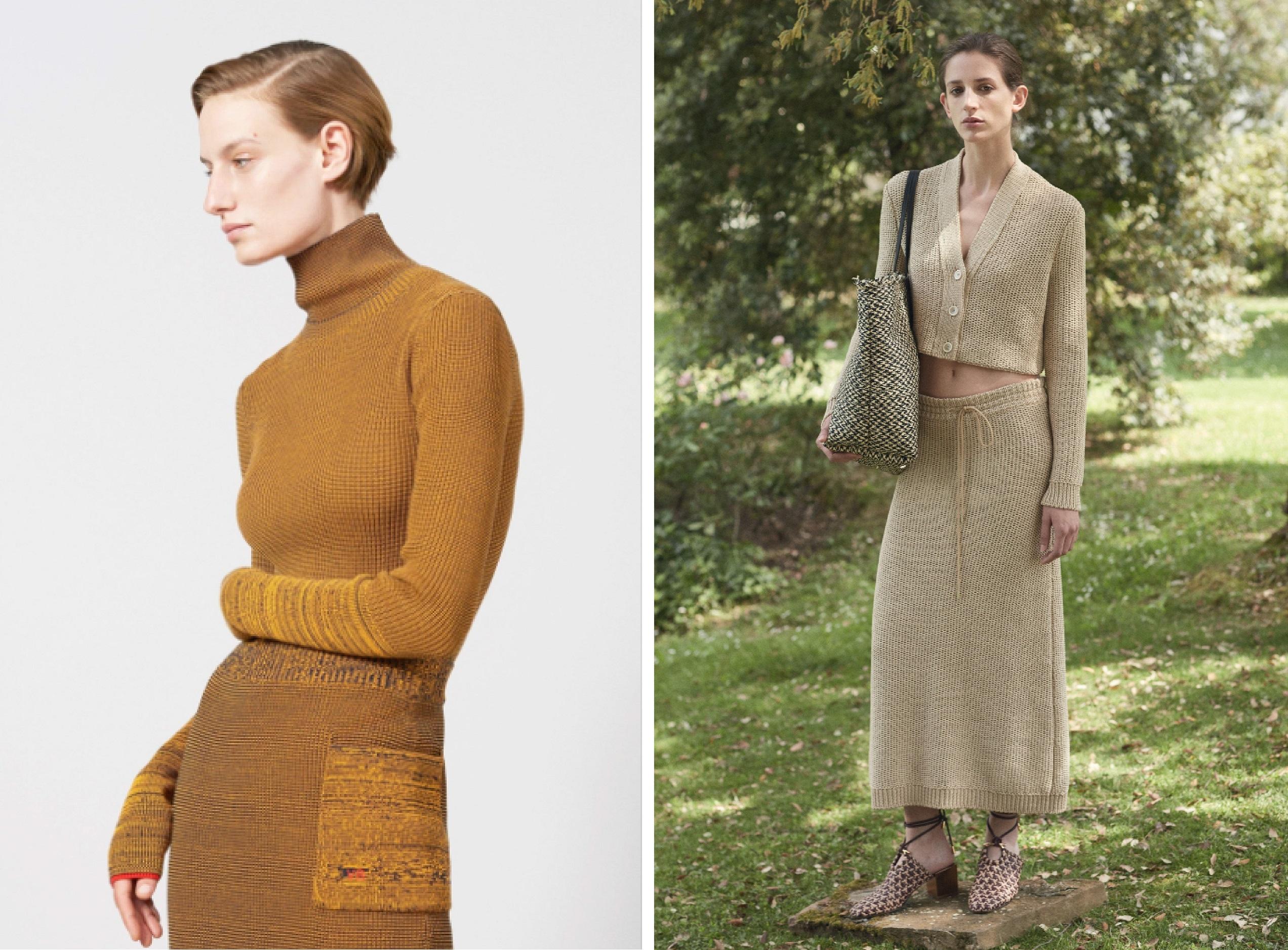 21a45f3d02c Трикотажные платья и костюмы вновь на пике популярности. В этом сезоне  дизайнеры сделали акцент на сложных цветах и миксе фактур (в новых  трикотажных вещах ...