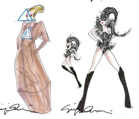 Армани создал костюмы для тура Lady Gaga