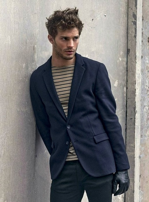 10-25-Stylish-Hot-Guys-In-Stripes-Jamie-Dornan-Blazer-Leather-Gloves-Mens-Style-Via-Hugo-Boss