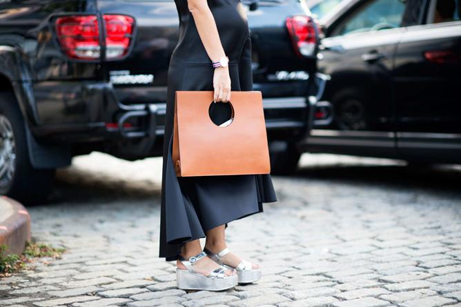 что носить летом: босоножки на платформе стрит-стайл