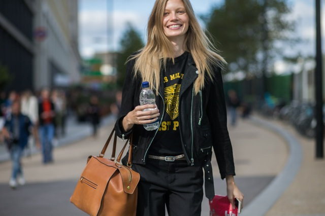 EXCLUSIVE London Fashion Week Spring/Summer 2016 - Streetstyle Featuring: Model Where: London, United Kingdom When: 19 Sep 2015 Credit: The Styleograph/WENN.com