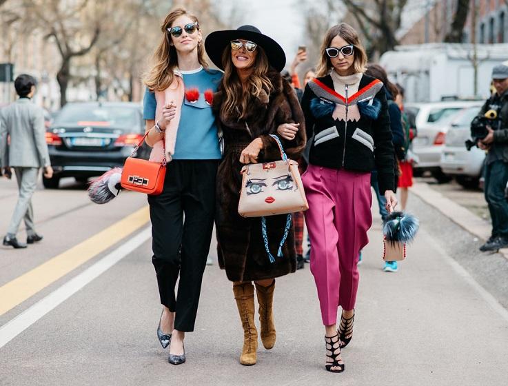Стильные женщины четырех модных столиц