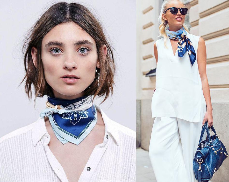 Как носить платок: модные способы для лета и осени 2020